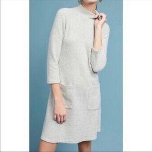 Anthropologie Moth Alba Mock Neck Sweater Dress